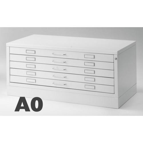 Cassettiera Portadisegni A0 5 Cassetti Bianco Professionale cm 144x96x54h DT70-5 ARREDO UFFICIO