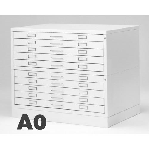 Cassettiera Portadisegni 10 Cassetti A0 Porta disegno Bianco componibile orizzontale cm 144x96x94h DT70-10 ARREDO UFFICIO