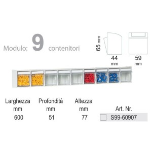 KIT Unibox Cassettiera 9 Cassetti UN60907 Home