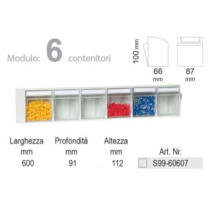KIT Unibox Cassettiera 6 cassetti UN60607 Home