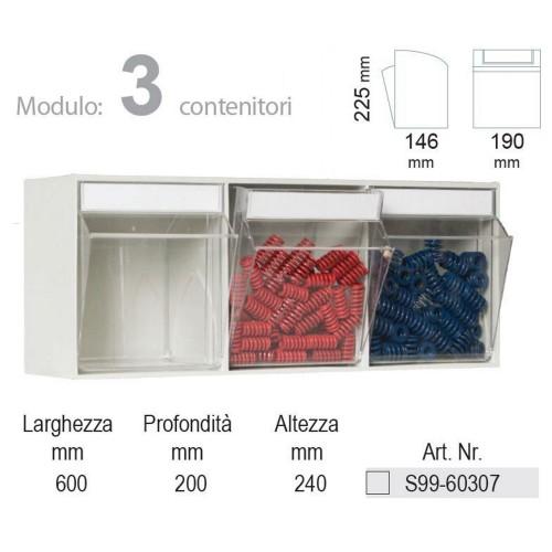 KIT Unibox Cassettiera 3 cassetti UN60307 Home
