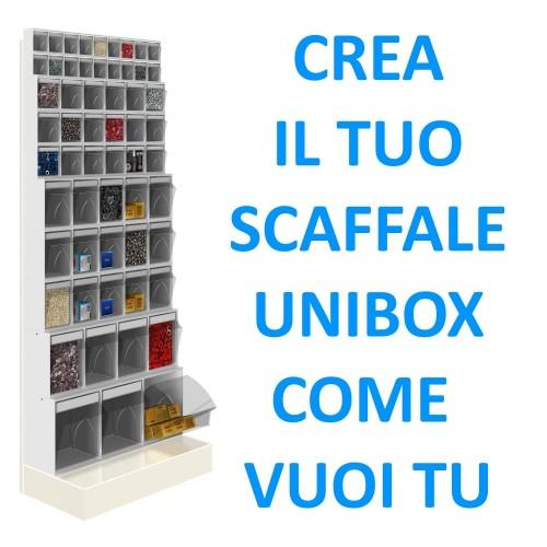 CREA IL TUO SCAFFALE UNIBOX  UNIBOX Porta minuteria scaffale