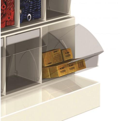 Cassettiere Plastica Con Ruote.Unibox Cassettiera 6 Cassetti Trasparenti Basculanti In Plastica Porta Minuteria