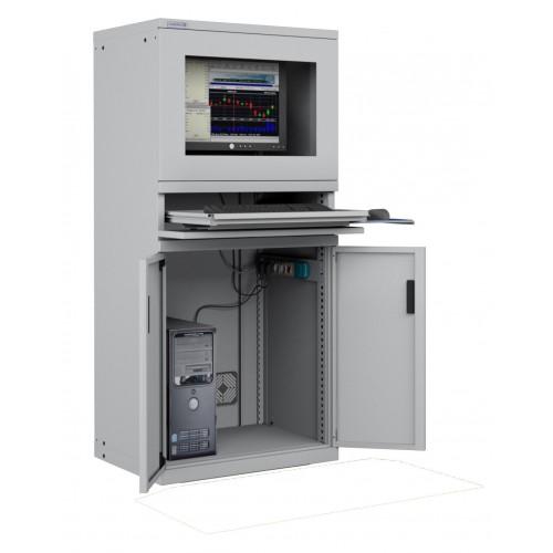 ARMADIO PORTA COMPUTER PC PROFESSIONALE CON TASTIERA ESTRAIBILE - Impianto compreso  S17-61620-00/07