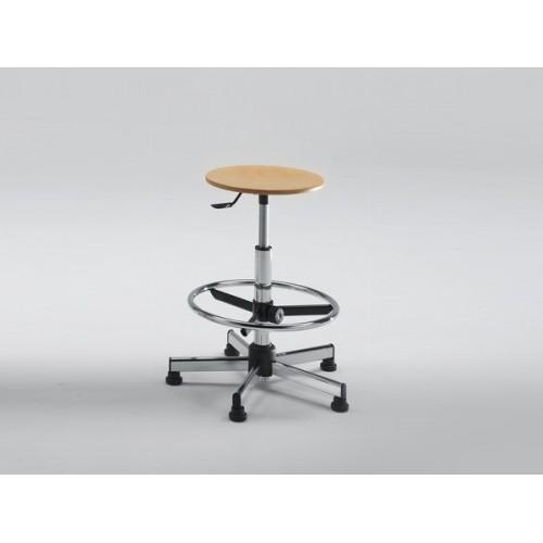 Sgabello Disegnatore Professionale seduta in legno poggiapiedi opzione kit ruote  M350FA