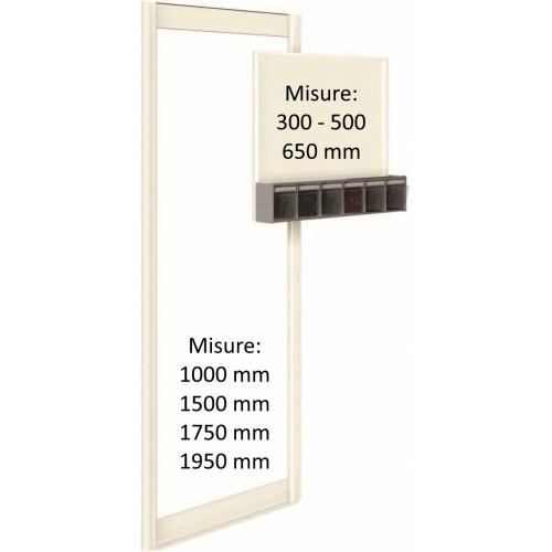 TELAIO UNIBOX DA MURO DA 300 A 1950 mm UN62037 UNIBOX Porta minuteria scaffale