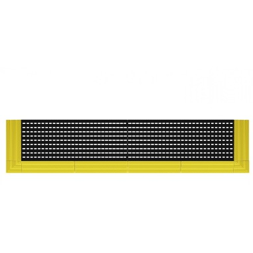 KIT Tappeto Polietilene Antisdrucciolo h 25mm con rampe S98-80208-002 BANCHI LAVORO