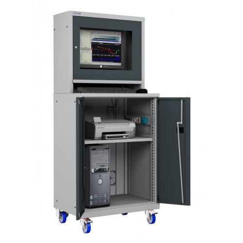 ARMADIO LCD PORTA COMPUTER con RUOTE e RIPIANO STAMPANTE PC PROFESSIONALE - DISPONIBILE S17-61670A-05 ARMADI PORTA PC