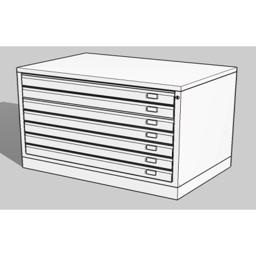 Cassettiera BASIC A1 7 Cassetti Portadisegni Bianco componibile orizzontale cm 113x79,5x70h  DT71/7/B