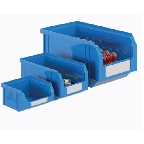 9 CONTENITORI PLASTICA PORTA MINUTERIA BOCCA DI LUPO 3,8 LT BLU - 150 L X 202 P X 125 H MM Qualità Professionale  S70-020409