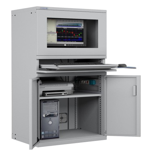 ARMADIO PORTA COMPUTER PC PROFESSIONALE CON TASTIERA ESTRAIBILE + RIPIANO - DISPONIBILE  S17-61620-01/07