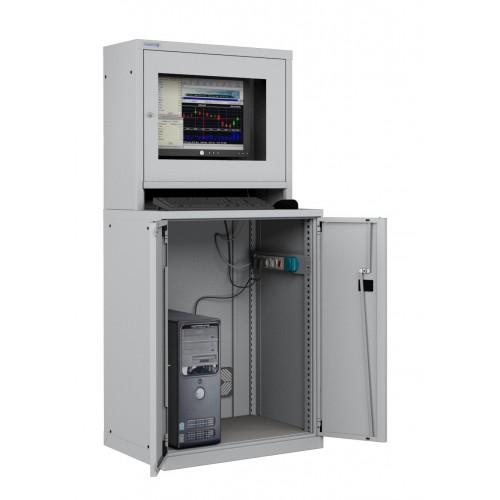 ARMADIO LCD PORTA COMPUTER PC PROFESSIONALE - Impianto compreso  S17-61670-00/07
