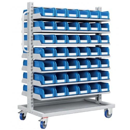 Carrello con 84 contenitori a bocca di lupo professionale  S177-31100-24