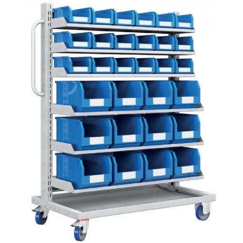 Carrello con 30 contenitori a bocca di lupo professionale  S177-31100-44