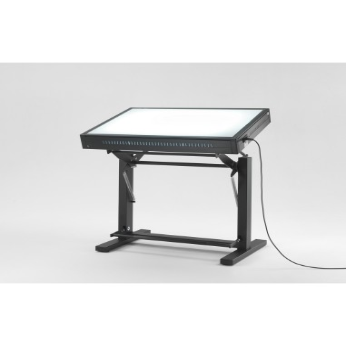 copy of Tavolo con piano luminoso da lavoro e controllo qualità 73x103x100/125 h Grapholux  M031/407