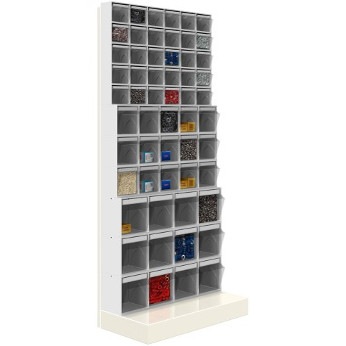 Unibox SCAFFALE CON BASE 57 cassetti trasparenti H.1750 parete porta minuteria Cassettiera 99-63177-11 UNIBOX Porta minuteria...